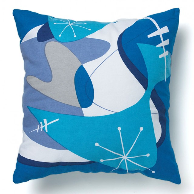 Blue Bam Boom Pillow