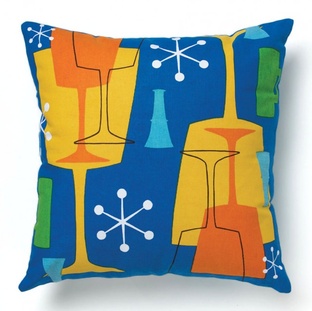 Blue Cocktail Pillow