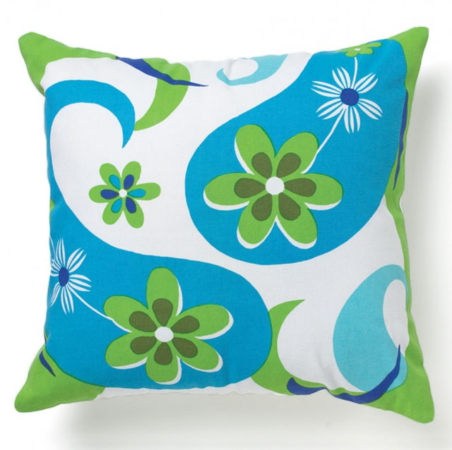 Paisley Flower Pillow