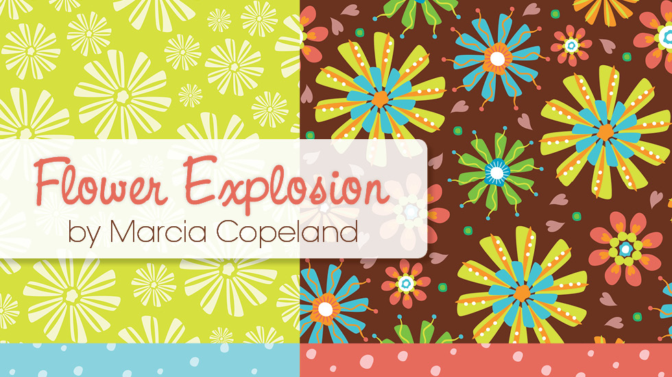 Flower Explosion Fabric Collection